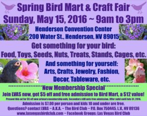 Bird Mart May 2016 Ad New Member Sale